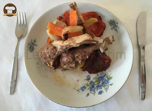 Fırın Torbasında  Sebzeli Pirzola