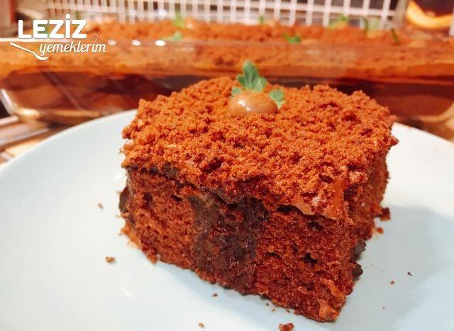 Çikolata Pudingli Dolgulu Kek
