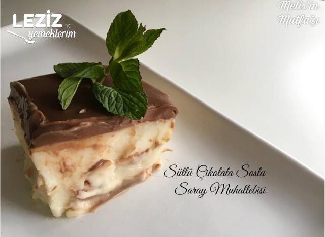 Sütlü Çikolata Soslu Saray Muhallebisi