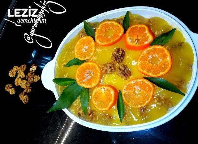 Kedi Dilli Portakallı Pasta