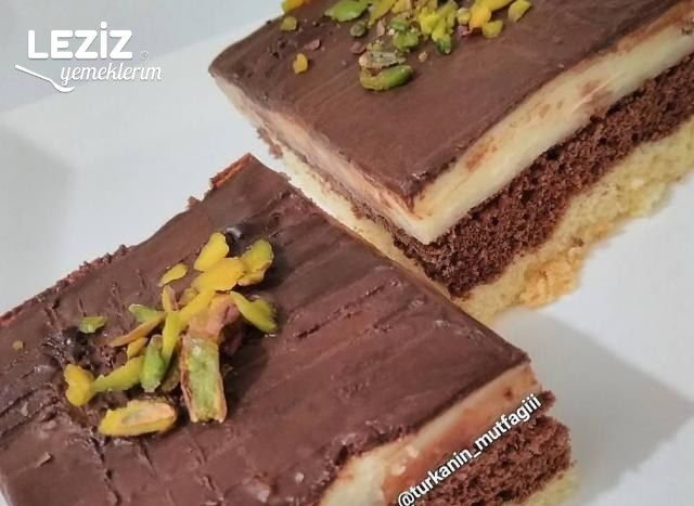 Çikolata Muhallebili Pasta