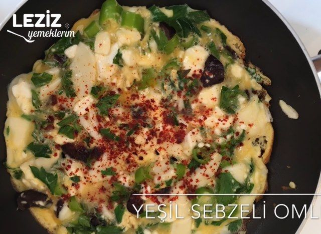 Yeşil Sebzeli Omlet