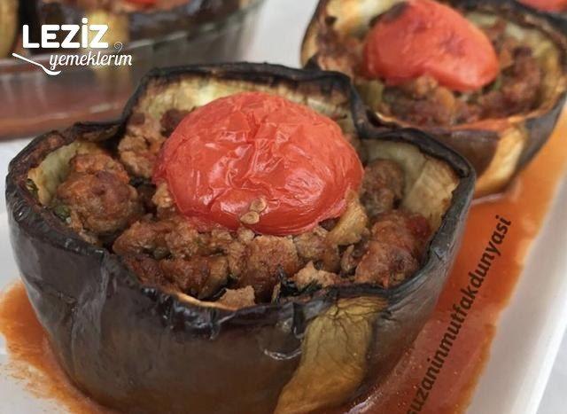 Fırında Bostan (Tombul) Patlıcanlı Karnıyarık