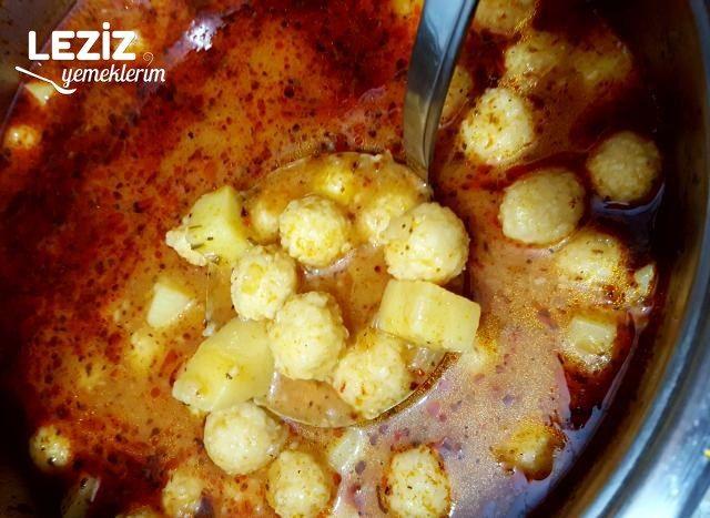 Bulgur Köfteli Patatesli Yemek