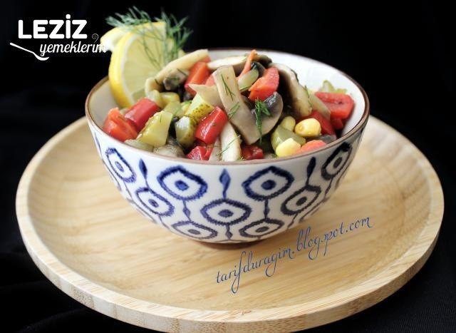 Mantar Salatası Yapılışı