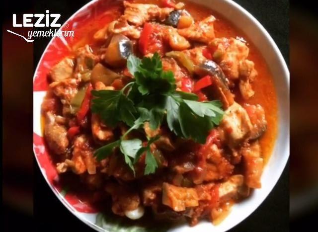 Patlıcanlı Tavuk (Pişirme Poşetinde)