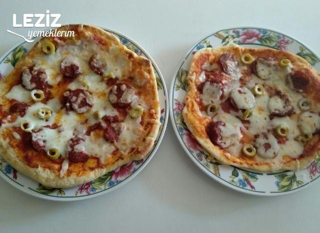 Bazlamadan Pizza Yapımı