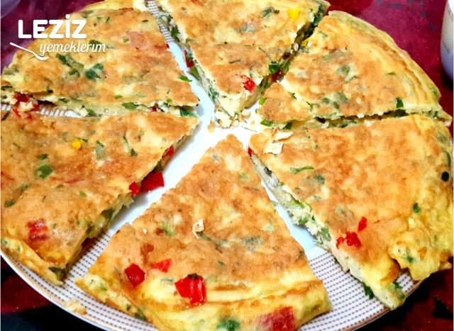 Biberli Peynirli Omlet (Harika Lezzet - Mutlaka Deneyin)