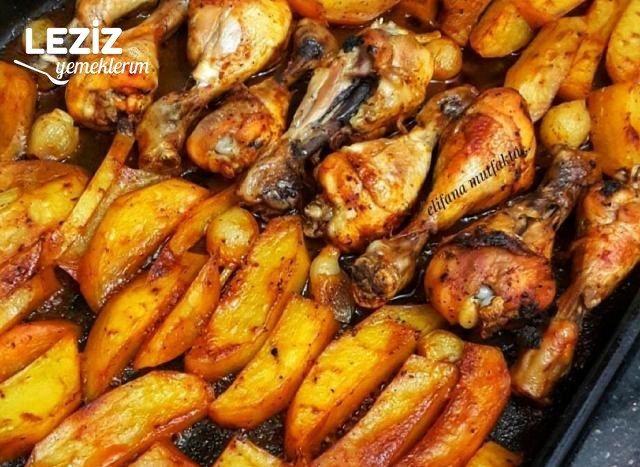 Mangal Tadında Fırın Tavuk