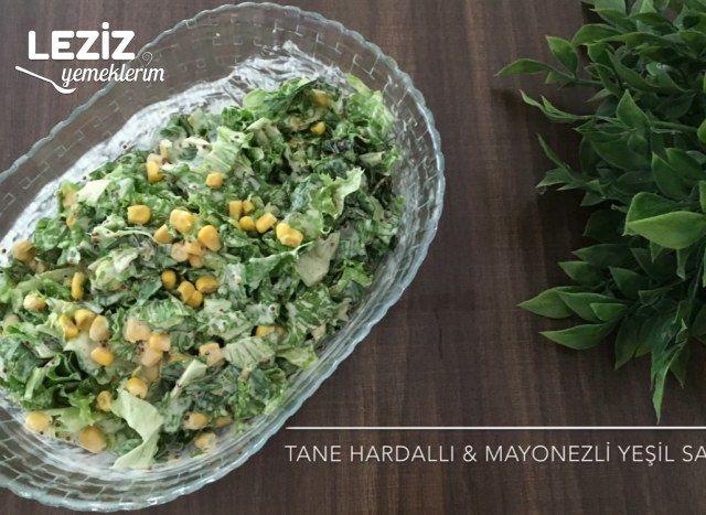 Tane Hardallı Ve Mayonezli Yeşil Salata