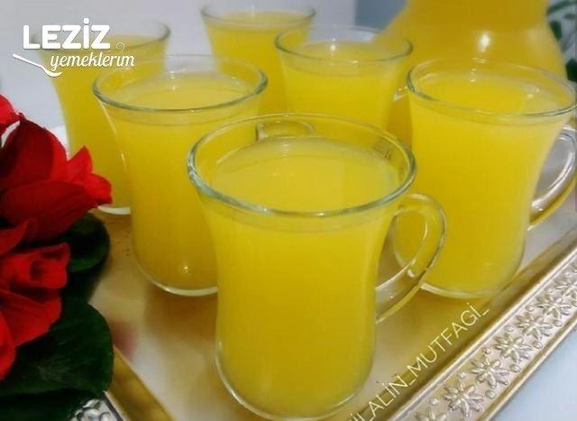 Buz Gibi Limonata (2 Portakal 1 Limon İle)