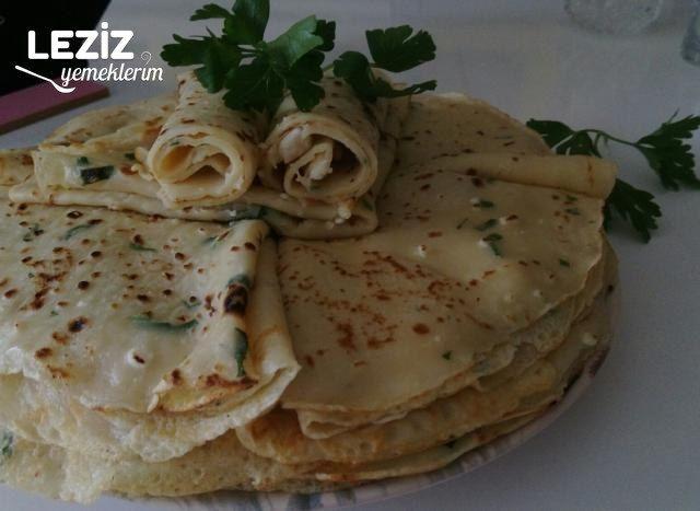 Maydanozlu Peynirli Krep