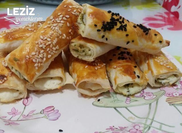 Fırında Peynirli İkramlık Rulo Börek