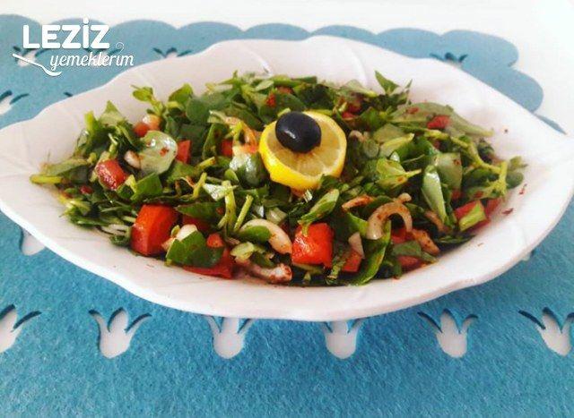 Semiz Otu Salatası Nasıl Yapılır