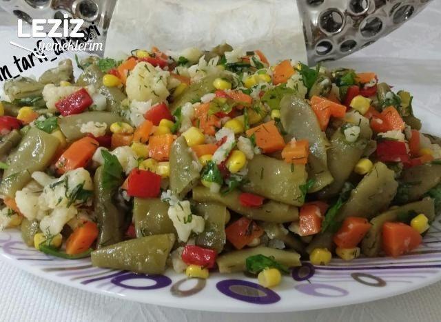 Taze Fasülye Salatası (Harika Lezzet)