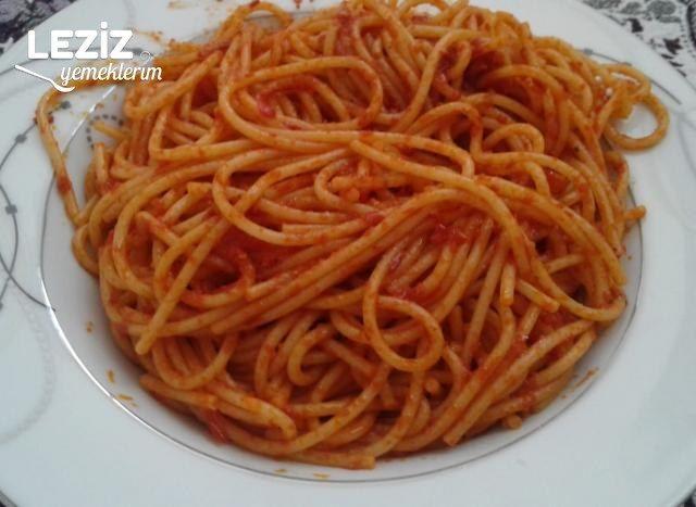 Salçalı Soslu Spagetti Tarifi