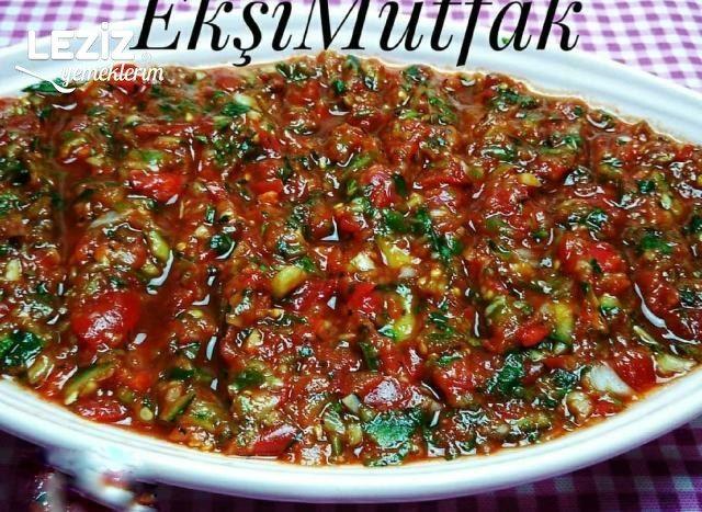Ezme Salata Yapımı