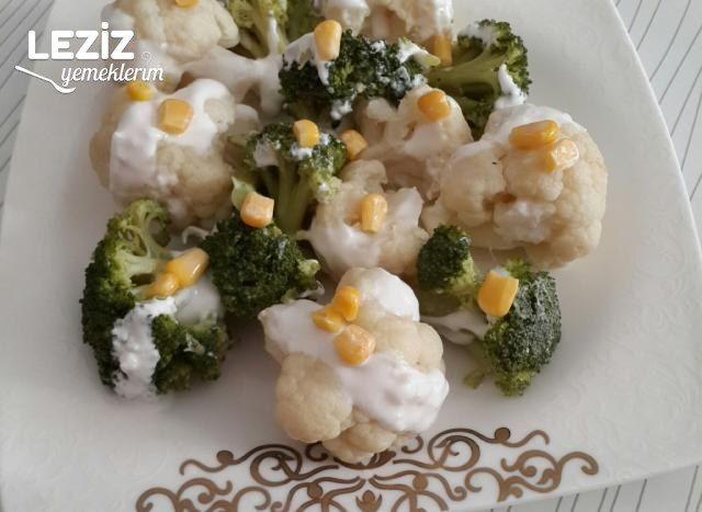 Yoğurtlu Brokoli Karnabahar Salatası