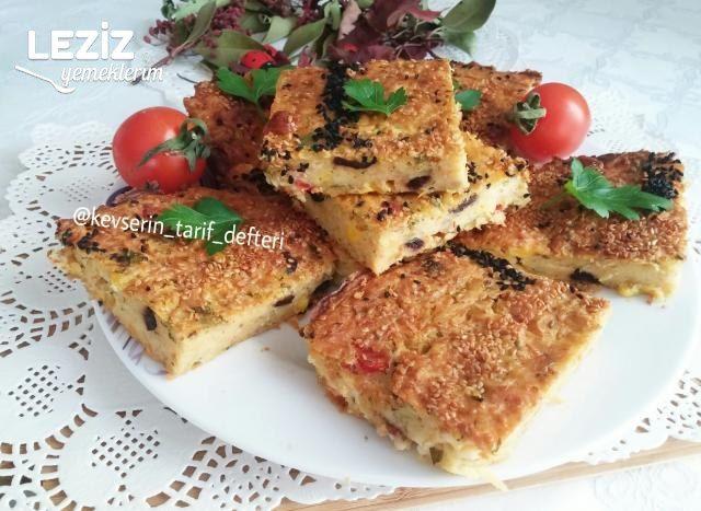 Fırında Sebzeli Mücver Keki