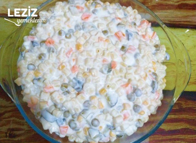 Boncuk Makarna İle Makarna Salatası