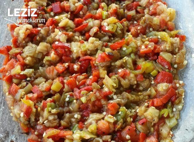 Köz Patlıcan Salatası Yapımı
