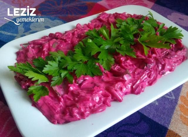 Yoğurtlu Kırmızı Pancar Salatası Leziz Yemeklerim
