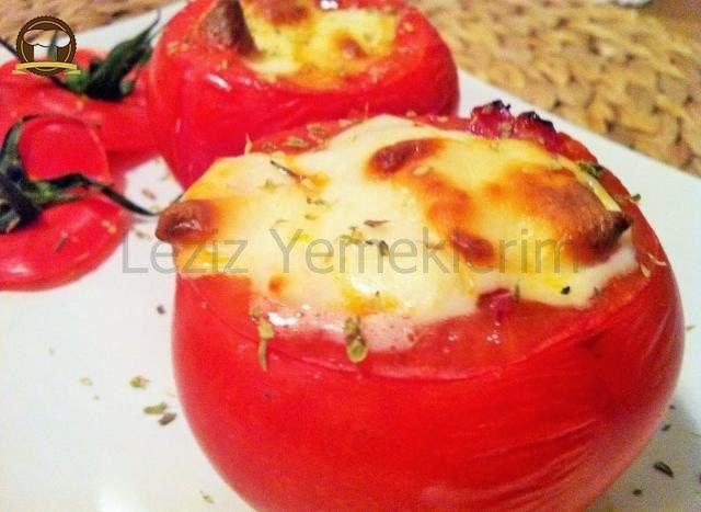 Patlıcanlı Domates Dolması