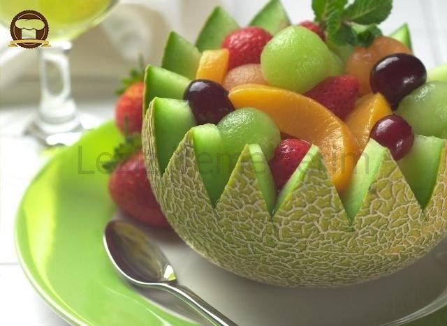 Kavunda Dondurmalı Meyve Salatası