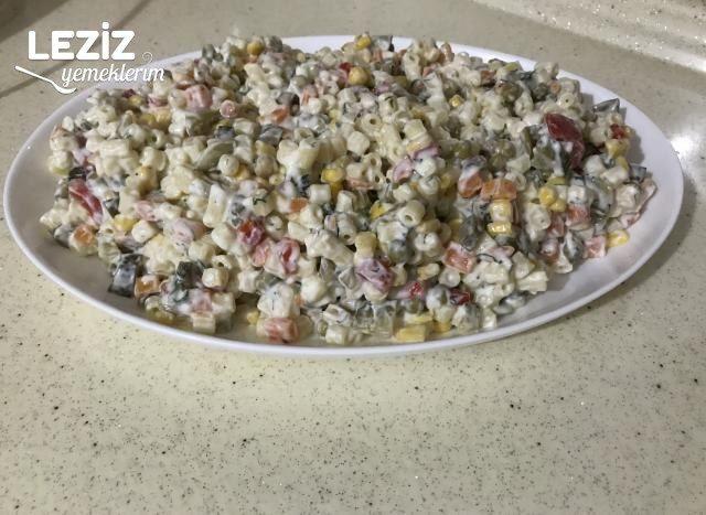 Bol Malzemeli Makarna Salatası