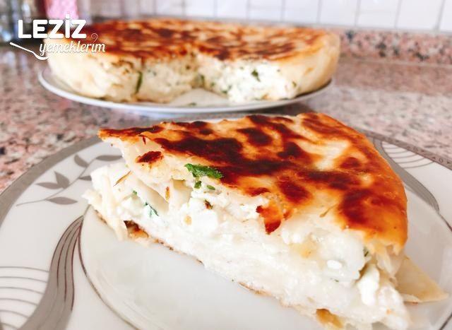 Tavada Pratik Hazır Yufkadan Peynirli Börek (Su Böreği Tadında)