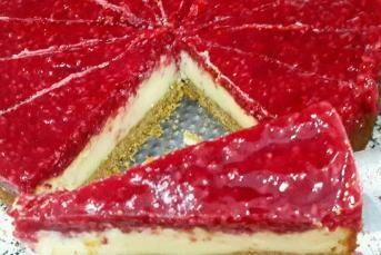 Frambuazlı Cheesecake (Ev Yapımı)