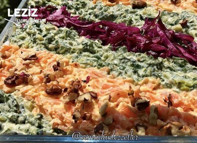 Ispanaklı Havuçlu Bulgur Salatası