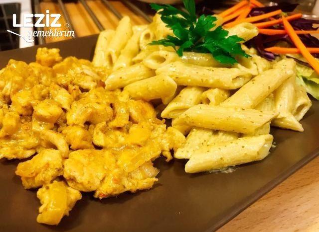 Pesto Soslu Makarna (Tavuk Dünyası Lezzetinde)