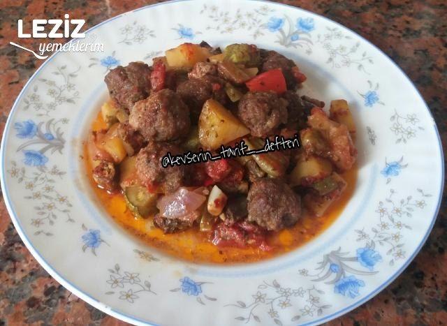 Fırında Nefis Sebzeli Köfte Yemeği