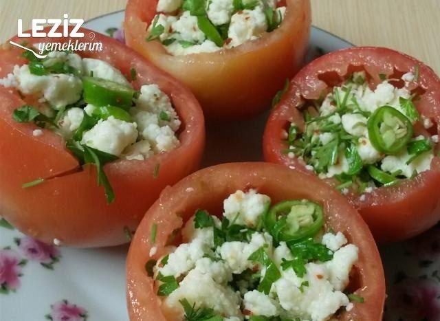 Domates Çanağında Lor Salatası