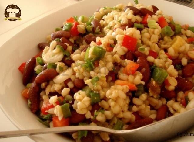 Buğdaylı Mercimekli Salata