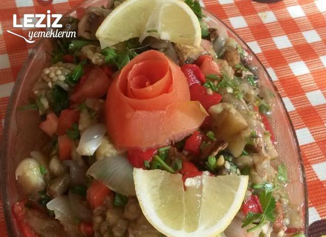 Mantarlı Patlıcan Salatası