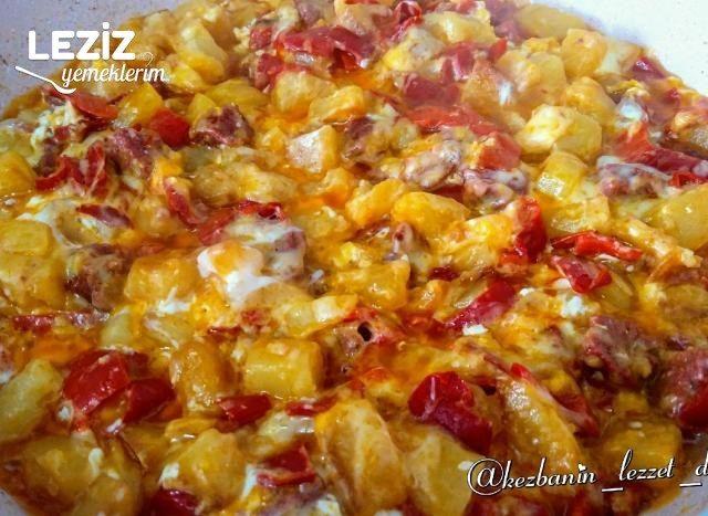 Kahvaltılık Biberli, Sucuklu Patates Kavurması