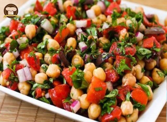 Nohutlu Patlıcan Salatası