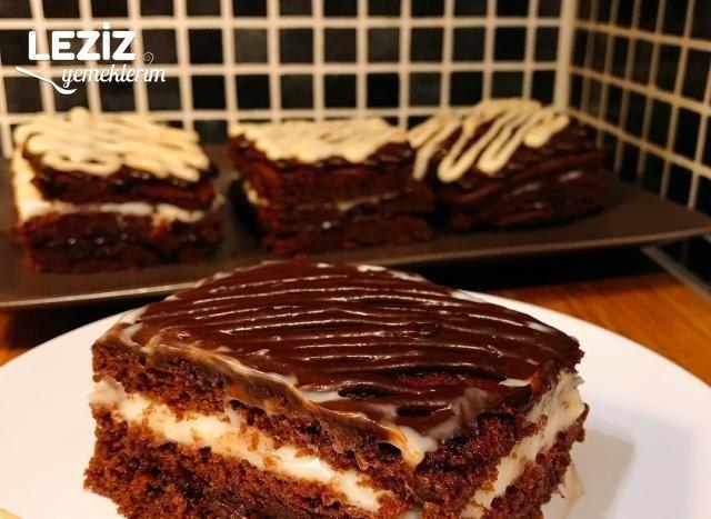 Beyaz Ve Bitter Çikolatalı Pasta