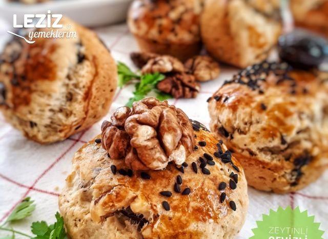 Cevizli - Zeytinli Muffinler