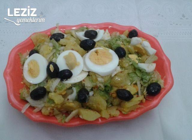 Patatesli Yumurtalı Salata