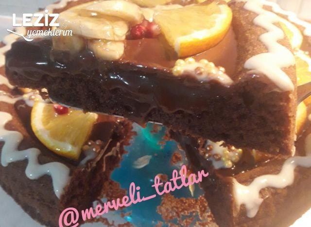 Karamelli Çikolatalı Tart Pasta (Şahane Lezzet)
