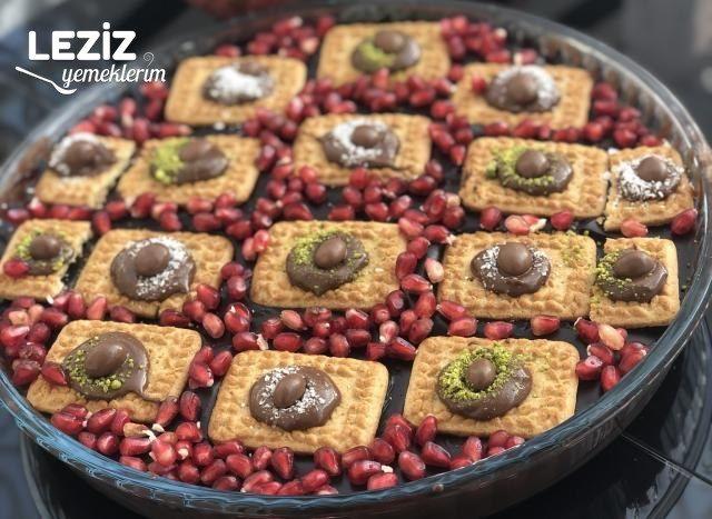 İki Renk Bisküvili Kremalı Pasta