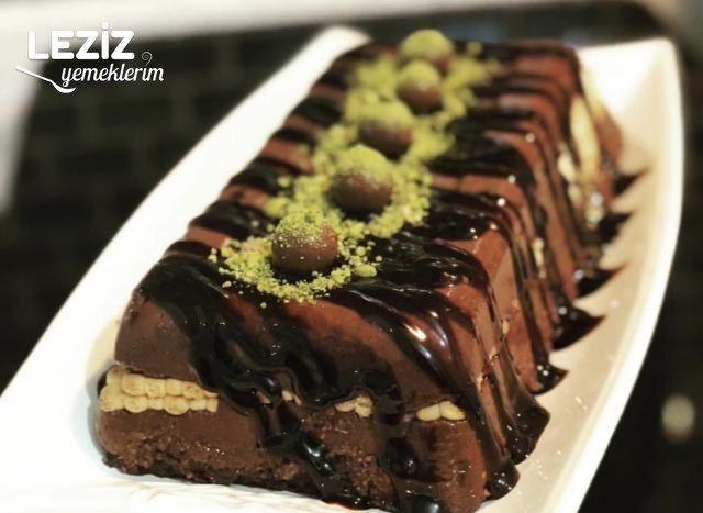 Kakaolu Sütlü Bisküvili İrmik Tatlısı