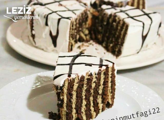 En Kolay Bisküvili Yaş Pasta Tarifi