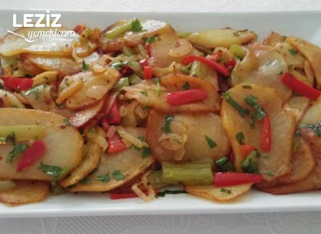 Sebzeli Kızarmış Patates Salatası