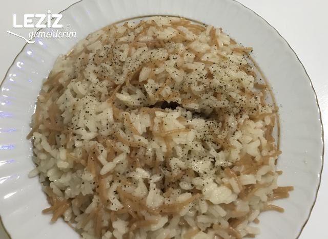 Tane Tane Tel Şehriyeli Pirinç Pilavı