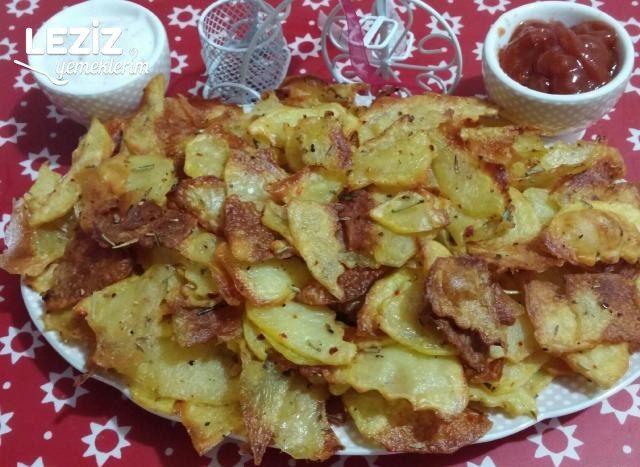 Fırında Baharatlı Patates Cipsi