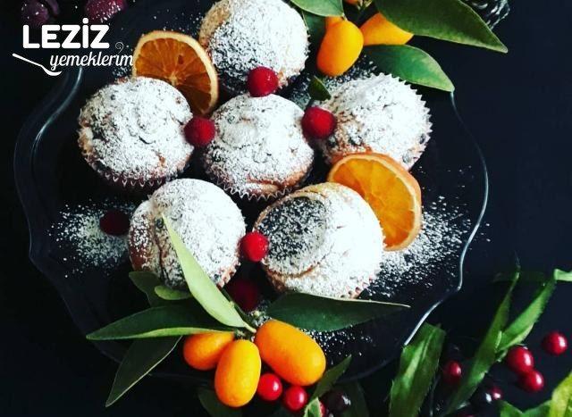 Elmalı Ve Damla Çikolatalı Muffin Kek